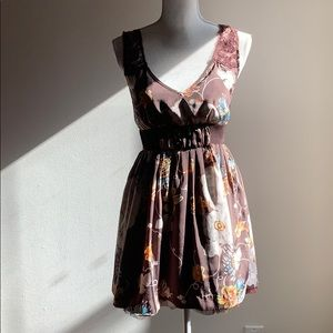 Free People floral pattern fit and flair dress.
